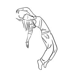 Hip-hop woman dancer vector image vector image