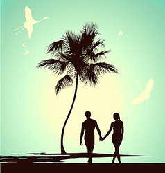 married couple walking vector image