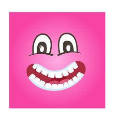 frisky smiley face icon vector image vector image