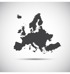 Simple map of European Union vector image