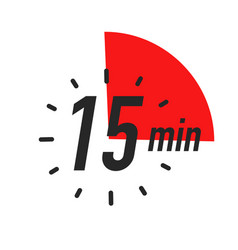 15 timer minutes symbol color style vector image