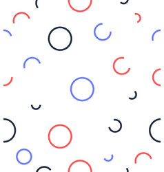 abstract circle line pattern vector image