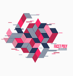 Abstract polygonal background with stripy vector