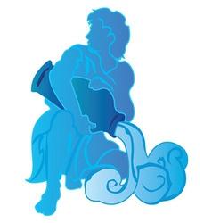 Aquarius background design vector