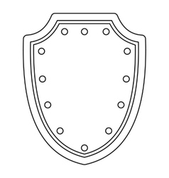 Army protective shield icon outline style vector