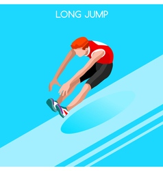 Athletics Jump 2016 Summer Games 3D Isometric vector image