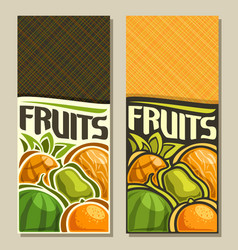 Banners for fruits vector