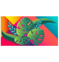 beautiful flat design tropical leaves vector image