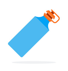 blue sports plastic water bottle flat isolated vector image