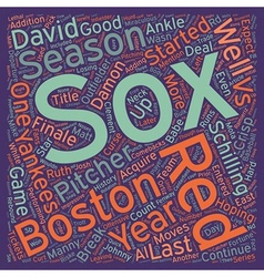 Boston Red Sox Preview text background wordcloud vector image
