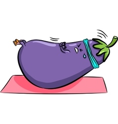 bright eggplant shakes Press vector image