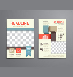 brochure flyer magazine cover booklet poster desig vector image