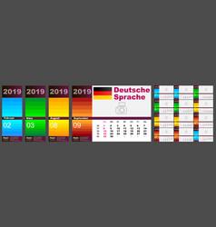 calendar deutsch 2019 german language standard us vector image