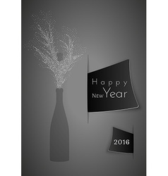 Champagne and wish to happy new year vector