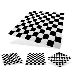 Checkered planes with shadows and shading vector