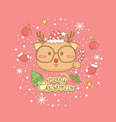 christmas celebration greeting card vector image