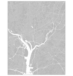 City street map washington dc district of vector