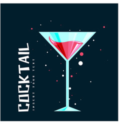 Cocktail glass of cocktail background image vector