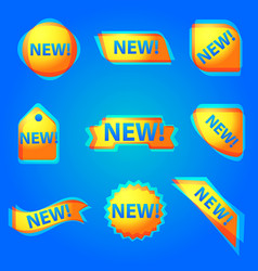 colorful new advertising web banner vector image