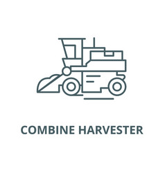 combine harvester line icon combine vector image