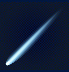 comet icon realistic style vector image