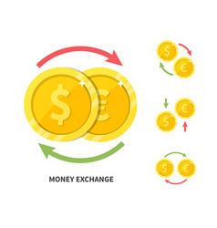 currency exchange symbol flat vector image