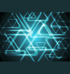 Dark cyan glowing triangles Tech geometric vector