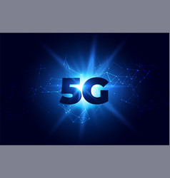 digital 5g wireless communication network vector image