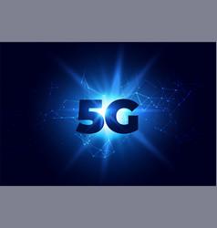 Digital 5g wireless communication network vector