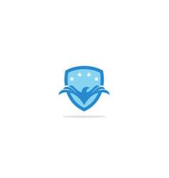 eagle shield victory protect logo vector image