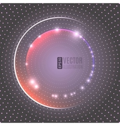 Energy glowing circle background vector image