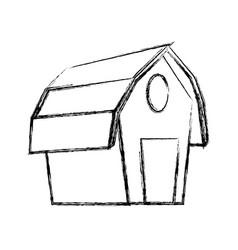 Farm barn building vector