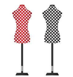 Female Dressmakers Mannequin vector