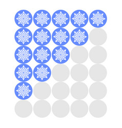 five flowers rating icons evaluation of the hotel vector image