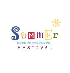 For summer festival vector