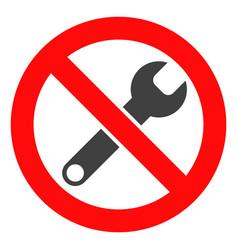 Forbidden repair icon vector