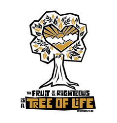 Fruit righteous is a tree life vector
