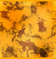 Golden foil with rust textured seamless pattern vector