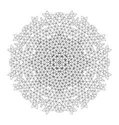 Graphic triangles circle ornament vector