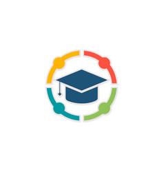 Group round university logo vector