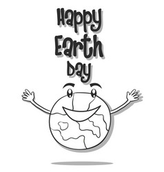 Hand draw world for earth day vector