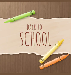 Hand drawn back to school greetings label - back vector
