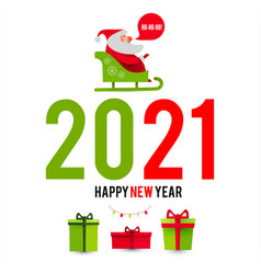happy ner 2021 year christmas design template vector image