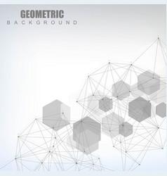 Hexagonal abstract background big data vector