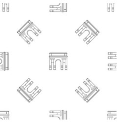 historical arch icon outline style vector image