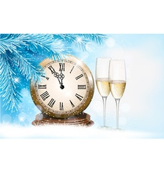 Holiday background with champagne glasses and vector