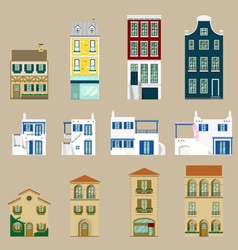 Houses collection Europe house vector