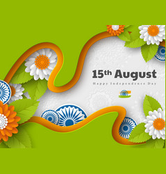 indian independence day holiday design vector image