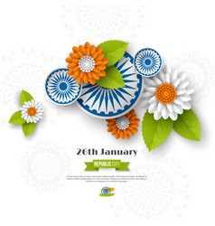 indian republic day holiday design vector image