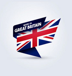 made in great britain flag vector image